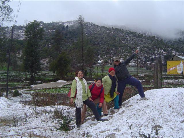 sneeuw in kathmandu